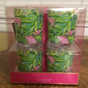 Lilly Pulitzer Acrylic Lo-Ball Glasses, Set of 4